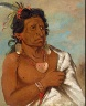 George Catlin / U'sh-ee-kitz, He Who Fights with a Feather, Chief of the Tribe / 1834