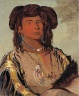 George Catlin / Ha-wón-je-tah, One Horn, Head Chief of the Miniconjou Tribe / 1832