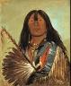 George Catlin / Shón-ka, The Dog, Chief of the Bad Arrow Points Band / 1832