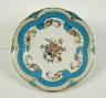 Sèvres Manufactory / Plate: Part of a Dessert Service with Flowers and Turquoise Blue Ribbons / 1782