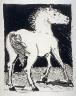 Pablo Picasso / Le cheval (The horse), pl. 1, from the book Picasso/Eaux-fortes originales pour des textes de Buffon (Picasso/Original Etchings for the Texts by Buffon) (Paris: Martin Fabiani, 1942) / 1941 - 1942