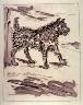 Pablo Picasso / Le chien (The dog), pl. 7, from the book Picasso/Eaux-fortes originales pour des textes de Buffon (Picasso/Original Etchings for the Texts by Buffon) (Paris: Martin Fabiani, 1942) / 1942