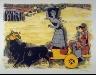 M.S. Husain / Pilgrimage on a Bullock Cart / 1957