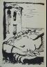 Pablo Picasso / Femme endormie (Woman Sleeping), illustration on p. 56 of the book Les Yeux fertiles (The Fertile Eyes)  by Paul Eluard (Paris: G. L. M. [Guy Lévis Mano], 1936) / 1936