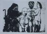Pablo Picasso / Petit vieux flatté par le Célestine (Small Old Man Flattered by Célestine), illustration XLVI for page 203 in the book La Célestine by Fernando de Rojas (Paris: Editions de l'Atelier Crommelynck, 1971) / 1968