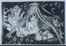 """Pablo Picasso / """"Au théâtre: Le cocu avec sa femme et un petit chien,"""" pg. 63, in the book Le Cocu magnifique: Pièce en trois actes. by Fernand Crommelynck (Paris: ?ditions de l'Atelier Crommelynck, 1968). / 1966"""