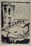 """Pablo Picasso / """"3. Marie-Thérèse endormie au bord de la  mer (Marie-Thérèse Sleeping at the Seaside),""""  in the book La barre d'appui (The Handrail) by Paul Eluard (Paris: Editions """"Cahiers d'Art,"""" 1936) / 1936"""