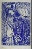 """Pablo Picasso / """"Nush au chapeau au bord de la mer (Nush Wearing a Hat at the Seaside),"""" hors text with  the book La barre d'appui (The Handrail) by Paul Eluard (Paris: Editions """"Cahiers d'Art,"""" 1936) / 1936"""