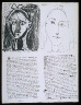 Pablo Picasso / Untitled, pgs.  5-6,  in the book Poèmes et lithographies by Pablo Picasso (Paris: Galerie Louise Leiris, 1954). / 1949