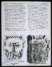 Pablo Picasso / Untitled, pgs.  13-14,  in the book Poèmes et lithographies by Pablo Picasso (Paris: Galerie Louise Leiris, 1954). / 1949