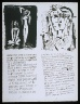 Pablo Picasso / Untitled, pgs.  15-16,  in the book Poèmes et lithographies by Pablo Picasso (Paris: Galerie Louise Leiris, 1954). / 1949