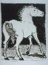 """Pablo Picasso / """"Le cheval  (The Horse),""""  in the book Histoire naturelle:  Picasso eaux-fortes originales pour  les textes de Buffon (Picasso's Original Etchings for Buffon's Text)  (Paris: Martin Fabiani, 1942) / 1936"""