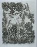 """Pablo Picasso / """"Le chèvre (The Goat),""""  in the book Histoire naturelle:  Picasso eaux-fortes originales pour les textes de Buffon (Picasso's Original Etchings for Buffon's Text)  (Paris: Martin Fabiani, 1942) / 1936"""