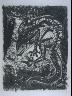 """Pablo Picasso / """"Le lézard (The Lizard),""""  in the book Histoire naturelle:  Picasso eaux-fortes originales pour les textes de Buffon (Picasso's Original Etchings for Buffon's Text)  (Paris: Martin Fabiani, 1942) / 1936"""