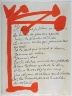 Pablo Picasso / Untitled, design for page 92 in the book Le Chant des  morts (The Song of the Dead) by Pierre Reverdy (Paris: Tériade Editeur, 1948) / 1948