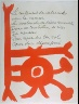 Pablo Picasso / Untitled, design for page 93 in the book Le Chant des  morts (The Song of the Dead) by Pierre Reverdy (Paris: Tériade Editeur, 1948) / 1948