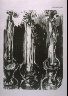 Jim Dine / Candlesticks, illustration in the book The Apocalypse/The Revelation of Saint John The Divine/The Last Book of the New Testament from the King James Version of the Bible, 1611, with Twenty-nine Prints from Woodblocks Cut by Jim Dine.  (San Francisco:  The Arion Press, 1982) / 1982