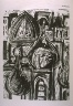 Jim Dine / Babylon, illustration in the book The Apocalypse/The Revelation of Saint John The Divine/The Last Book of the New Testament from the King James Version of the Bible, 1611, with Twenty-nine Prints from Woodblocks Cut by Jim Dine.  (San Francisco:  The Arion Press, 1982) / 1982