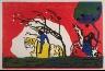 """Wassily Kandinsky / """"Zwei Reiter vor Rot""""  in the book Klänge (Munich: R. Piper, 1913) / 1911"""