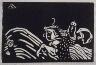 """Wassily Kandinsky / """"Glocke (Reiterin und Kind)"""" in the book Klänge (Munich: R. Piper, 1913) / 1907"""