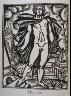 """Raoul Dufy / """"Orphee""""  in the book Le Bestiaire ou cortège d'Orphée by Guillaume Apollinaire (Paris: Deplanche, Éditeur d'Art, 1911). / 1911"""