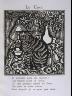 """Raoul Dufy / """"Le Chat""""  in the book Le Bestiaire ou cortège d'Orphée by Guillaume Apollinaire (Paris: Deplanche, Éditeur d'Art, 1911). / 1911"""