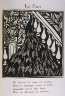"""Raoul Dufy / """"Le Paon""""    in the book Le Bestiaire ou cortège d'Orphée by Guillaume Apollinaire (Paris: Deplanche, Éditeur d'Art, 1911). / 1911"""
