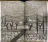 Bernard Buffet / Untitled, (double page) in the suite bound in the book Recherche de la pureté by Jean Giono (Paris: Henri Creuzevault, 1953). / 1953