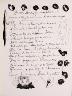 """Pablo Picasso / """"Texte. A una dama, que aviendo,"""" in the book Góngora: Vingt poëmes by Luis de Góngora y Argote (Paris: Les Grands Peintres modernes et le Livre, 1948). / 1947"""
