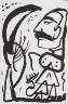A.R. Penck / Untitled, page 4 in the book Lyrick by Sarah Kirsch (Berlin: Edition Malerbücher, 1988) / 1988