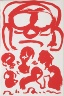 A.R. Penck / Untitled, page 13 in the book Lyrick by Sarah Kirsch (Berlin: Edition Malerbücher, 1988) / 1988
