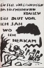 A.R. Penck / Untitled, page 35 in the book Lyrick by Sarah Kirsch (Berlin: Edition Malerbücher, 1988) / 1988