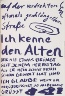 A.R. Penck / Untitled, page 65 in the book Lyrick by Sarah Kirsch (Berlin: Edition Malerbücher, 1988) / 1988