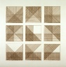Sol Lewitt / Pl. 10 from the set, Squares With A Different Line Direction in Each Half Square / 1971