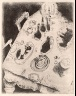 Marc Chagall / Table Filled with Food / not dated