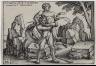Hans Sebald Beham / Hercules Killing Antheus / 1545