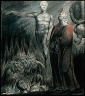William Blake / Lucifer and the Pope in Hell (The King of Babylon) / about 1805