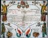 [Georg] Friedrich Speyer / Birth and baptism certificate of Johannes Seybert / 1770