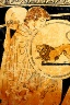 Makron / Skyphos with Helen's seduction and return / about 490-480 B.C.