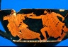 the Brygos Painter / Kantharos with Zeus in pursuit / about 490-480 B.C.