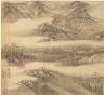 Song Xu / Eighteen Views of Wuxing:  Mt. Biyan (Verdant Cliff) / 1500s