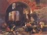 Albert Bierstadt / Roman Fish Market. Arch of Octavius / 1858