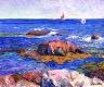 William Glackens / Rocks and Lighthouse / circa 1908