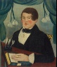 Anonymous / Young Man with a Book / circa 1830