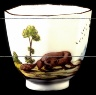 Chelsea factory / Beaker (cup) and Saucer / circa 1752