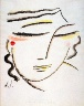 Alexej von Jawlensky / Geneigter Kopf mit geschlossenen Augen (Inclined Head with Closed Eyes) / circa 1922
