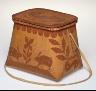 Artist unknown / Scraped Birch Bark Basket / 20th century