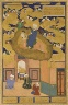 Painter: Unknown; Calligrapher: Sultan Muhammad Nur / The Night Journey of Muhammad on His Steed, Buraq; Leaf from a copy of the Bustan of Sacdi / dated 1514