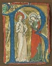 Probably made at the convent of Sankt Katharinenthal, Lake Constance / The Initial R, with the Annunciation, from a Gradual / ca. 1300