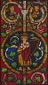 German (Swabia) / Panel from a Tree of Jesse Window / 14th century